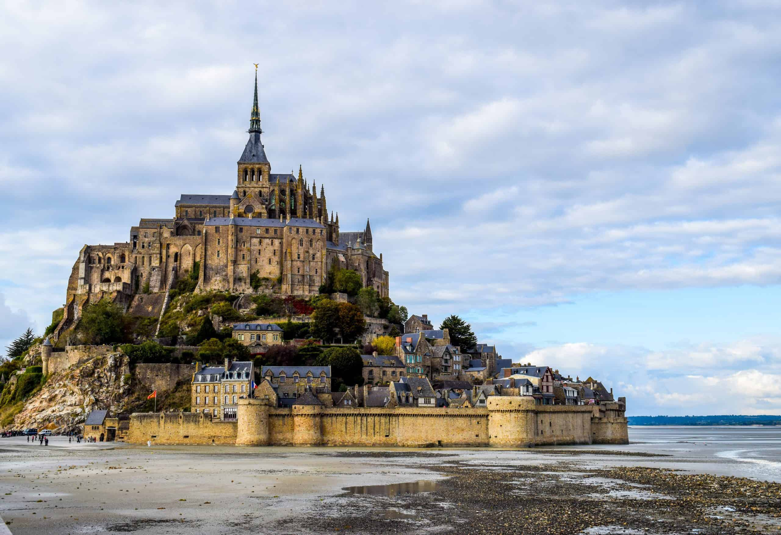 The Mont-Saint-Michel Abbey, one of the top France pilgrimage sites.
