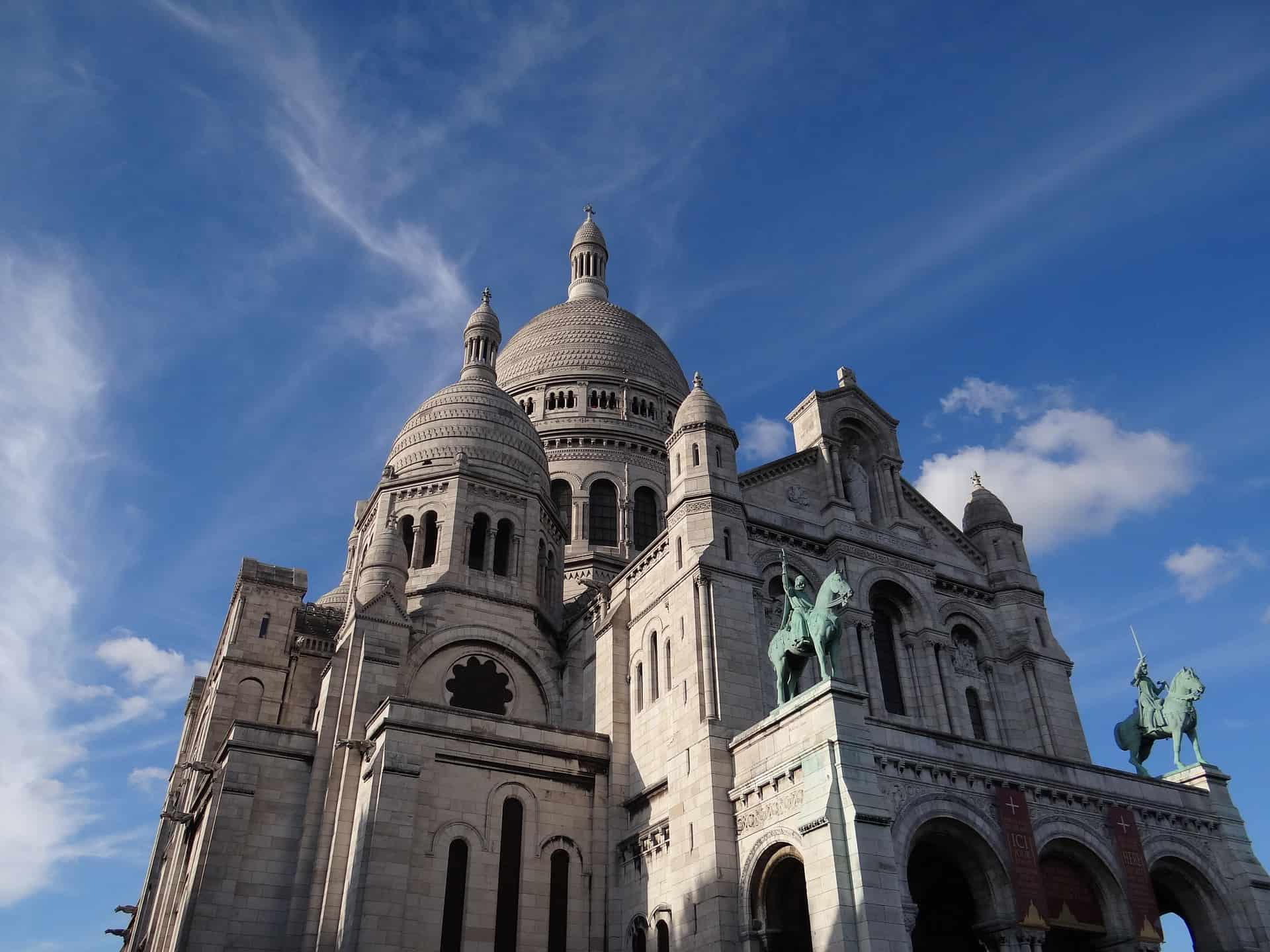 A few of the Basilica of the Sacred Heart of Paris, one of the top France pilgrimage sites.