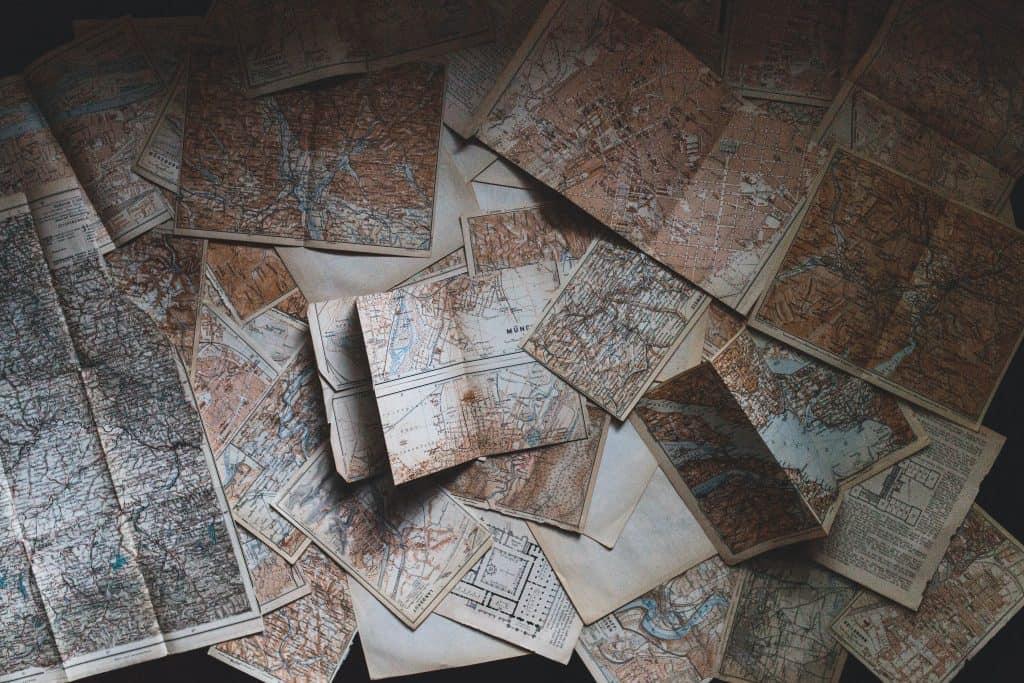 Planning maps for a Catholic pilgrimage tour