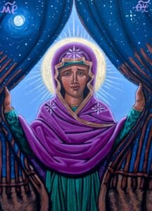 """Icon by Kelly Latimore """"Our Lady Who Removes Walls"""""""