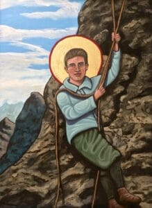 Icon of Blessed Pier Giorgio Frassati painted by artist Kelly Latimore.
