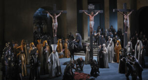 Crucifixion during the Passion Play