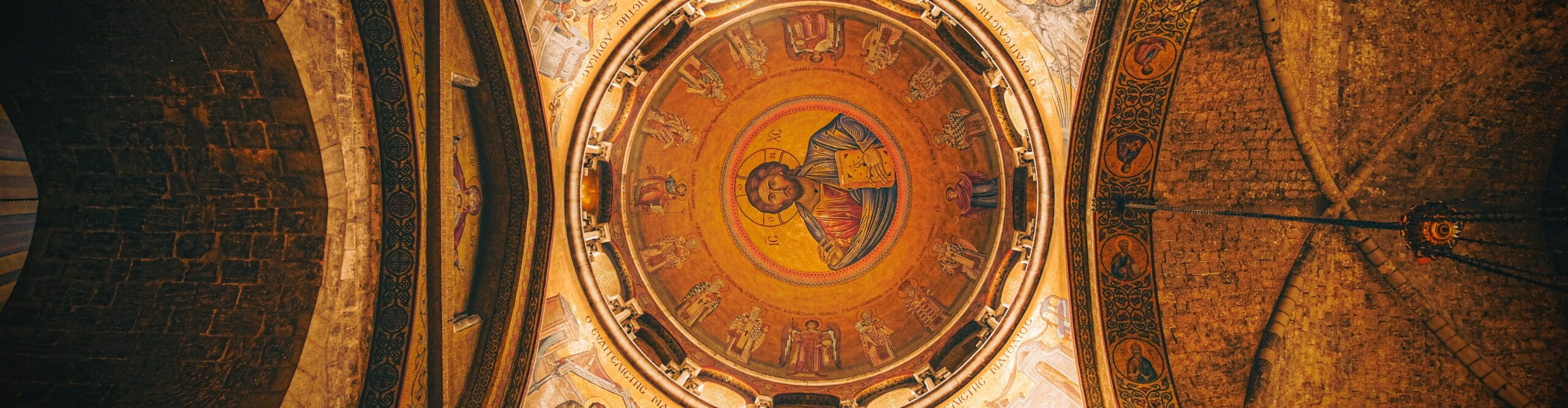Many of the first Catholic Saints of the Holy Land are shown at the Holy Sepulchre - the Apostles
