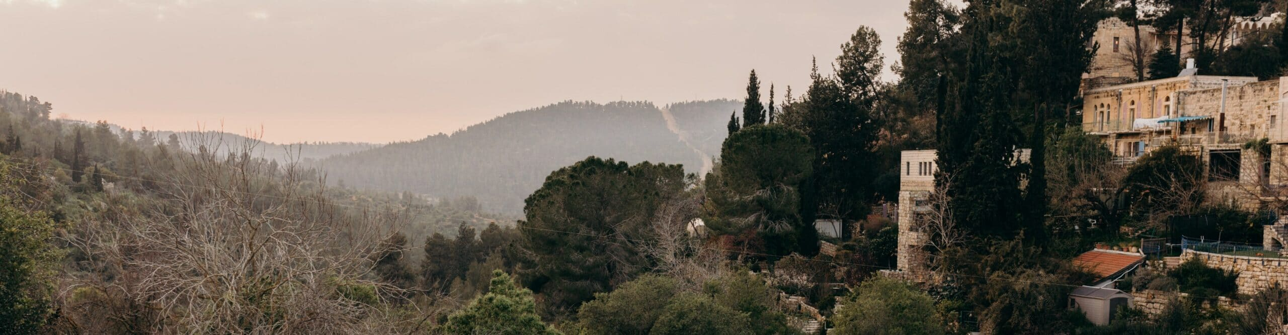 The area near Ein Karem, the place where the Church of St. John the Baptist is located in the Holy Land